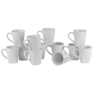 10 Strawberry Street Whittier Square 8-oz. Mugs, Set of 12