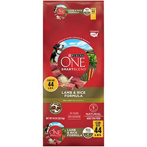Purina ONE Smartblend Dog Food, Lamb & Rice (44 lbs.)
