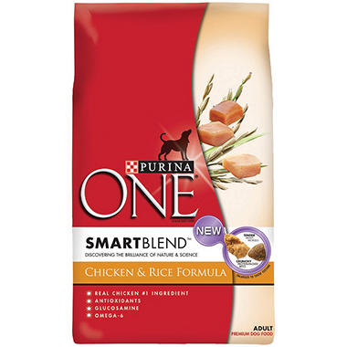 Purina One Adult Chicken & Rice Formula Dog Food - 34 lb.