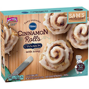 Pillsbury Flaky Supreme Cinnamon Rolls with Butter Cream Icing (13 oz., 4 pk.)