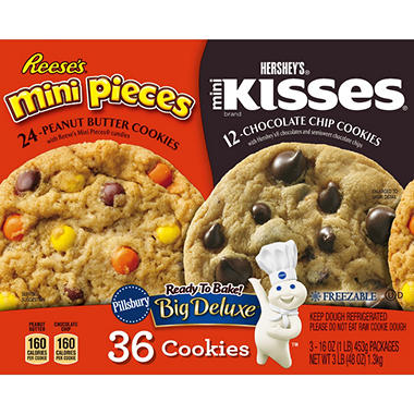 Pillsbury Big Deluxe Cookie Variety Pack (48 oz., 36 ct.)