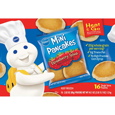 Pillsbury Mini Pancakes - Strawberry - 16 ct.