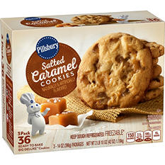 Pillsbury Salted Caramel Ready-to-Bake Big Deluxe Cookies (12 cookies per pk., 3 ct.)