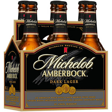 MICHELOB AMBER BOCK 6 / 12 OZ BOTTLES