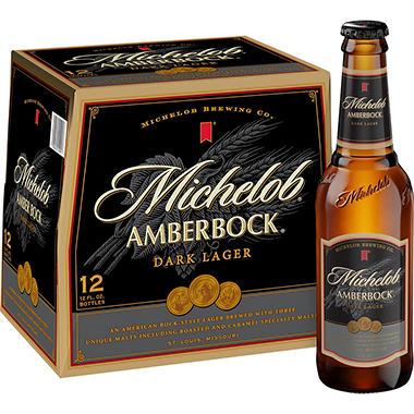 MICHELOB AMBER BOCK 12 / 12 OZ BOTTLES