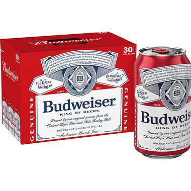 BUDWEISER 30 / 12 OZ CANS