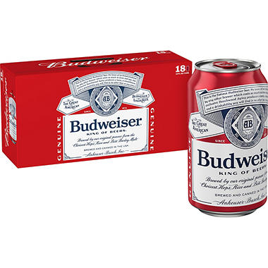 Budweiser (12 fl. oz. can, 18 pk.)