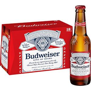 Budweiser (12 oz. bottles, 18 pk.)