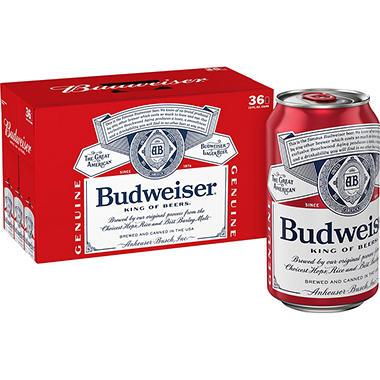 BUDWEISER 36 / 12 OZ  CANS