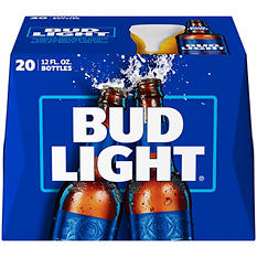 Bud Light Beer  - 20/12oz bottles