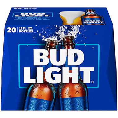 BUD LIGHT 20 / 12 OZ BOTTLES