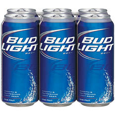 Bud Light Beer (16 fl. oz cans, 6 pk.)