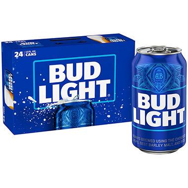 Bud Light Beer - 24/12oz cans