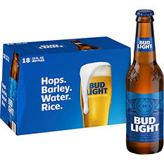 Bud Light Beer (12 oz. bottles, 18 pk.)
