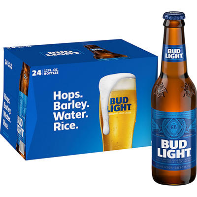 Bud Light Beer - 24/12oz bottles
