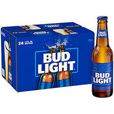 Bud Light Beer - 24/12oz bottles