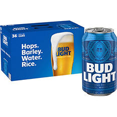 Bud Light Beer - 36/12oz cans