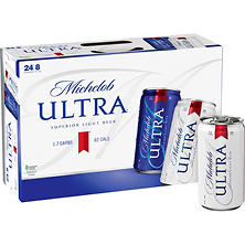 Michelob Ultra Superior Light Beer (8 fl. oz. can, 24 pk.)