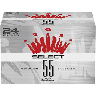 Budweiser® Select 55® Premium Light Beer - 24/12 oz.