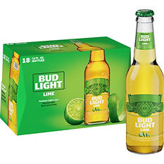 Bud Light Lime Beer (12 oz. bottles, 18 pk.)