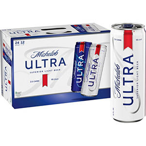 Michelob ULTRA Supperior Light Beer (12 oz. cans, 24 pk.)