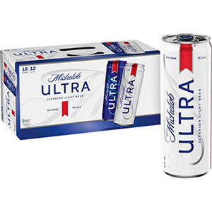 Michelob ULTRA Superior Light Beer (12 oz. cans, 18 pk.)