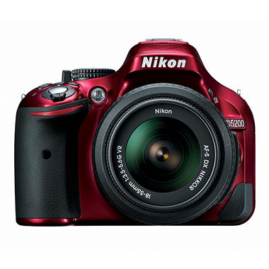 *$749 after $150 Tech Savings* Nikon D5200 24.1MP DSLR Kit with 18-55mm VR Lens - Various Colors