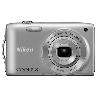 Nikon Coolpix S3300 16MP Digital Camera - Silver