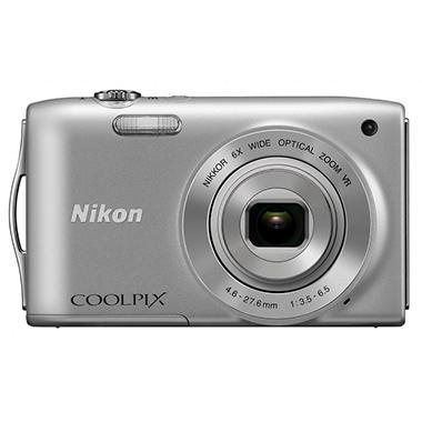 Nikon Coolpix S3300 16MP Digital Camera - Silver