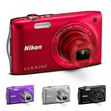 *Instant Savings* Nikon Coolpix S3300 16MP Digital Camera - Red