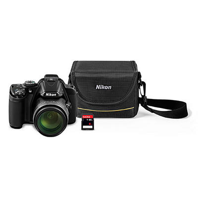 Nikon Coolpix P520 18.1MP CMOS Sensor Camera Bundle with 42X Optical Zoom, 8GB Memory Card and Camera Case