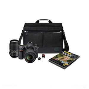 Nikon D7100 24.1MP HD-SLR Bundle with 18-140mm VR Lens and 55-300mm VR Lens, Bonus Bag, WiFi Adapter, and 32GB SD Card