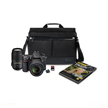 *$1,699 after $530 Tech Savings* Nikon D7100 24.1MP HD-SLR Bundle with 18-140mm VR Lens and 55-300mm VR Lens, Bonus Bag, WiFi Adapter, and 32GB SD Card
