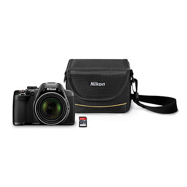 Nikon Coolpix P530 16MP CMOS Camera Bundle with 42x Optical Zoom, 8GB SD Card, and Camera Case