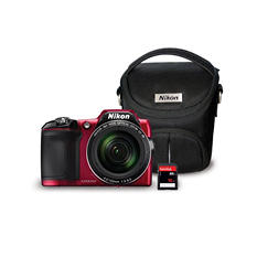 Nikon Coolpix L840 16MP CMOS Sensor HD Camera Bundle with 38x Optical Zoom, Camera Case and 16GB SD Card