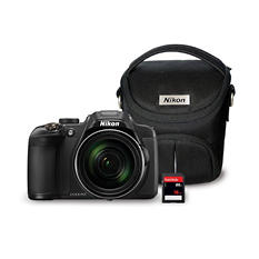 Nikon Coolpix P610 16MP CMOS Camera Bundle with 60x Optical Zoom, 16GB SD Card, and Camera Bag