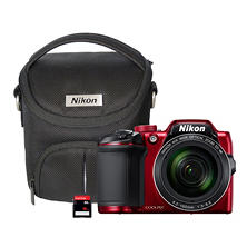 "Nikon B500 16MP, 40x Optical Long Zoom Digital Camera with Wi-Fi NFC, Bluetooth Image Sharing, 3"" Tilt LCD Screen, Camera Case and 16GB Memory Card"