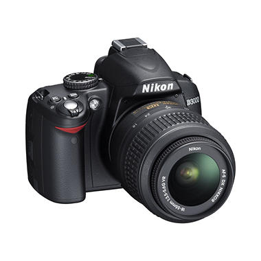 Nikon D3000 10MP Digital SLR Camera with 18-55mm NIKKOR Lens