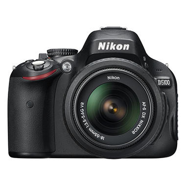 Nikon D5100 16.2MP Digital SLR Camera with AF-S DX Nikkor 18-55mm f/3.5-5.6G VR Lens