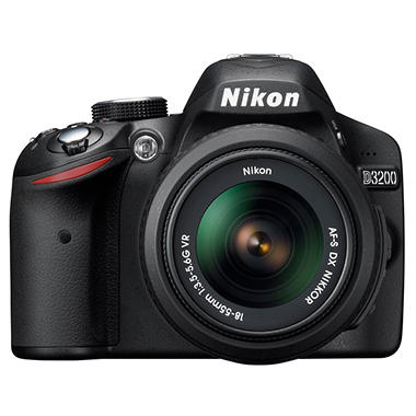 Nikon D3200 24.2MP DSLR - Black