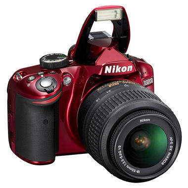 *$499 after $100 Tech Savings* Nikon D3200 24.2MP DSLR - Red