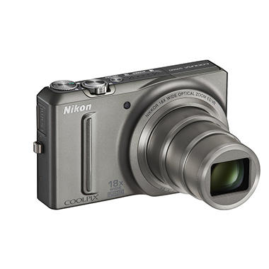 Nikon Coolpix S9100 12MP Digital Camera - Silver