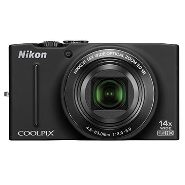 Nikon S8200 16.1MP Digital Camera - Black