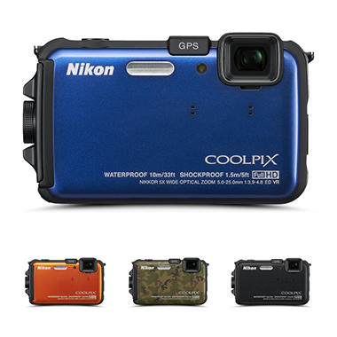 Nikon AW100 16MP Waterproof Digital Camera - Various Colors