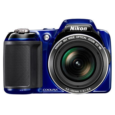 Nikon Coolpix L810 16.1MP Digital Camera with 26x Optical Zoom - Blue