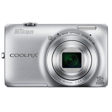 Nikon Coolpix S6300 16MP Digital Camera - Silver
