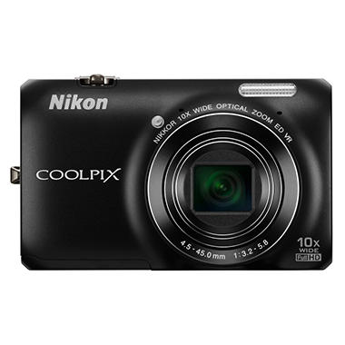 Nikon Coolpix S6300 16MP Digital Camera - Black