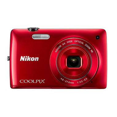 Nikon Coolpix S4300 16MP Digital Camera - Red