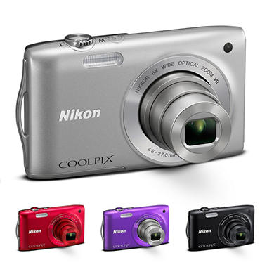 Nikon Coolpix S3300 16MP Digital Camera - Various Colors