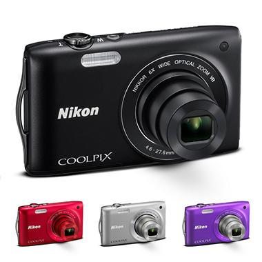 Nikon Coolpix S3300 16MP Digital Camera - Various Colors